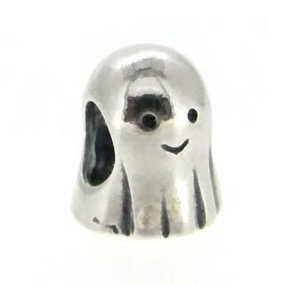 Queenberry Sterling Silver Spirit Ghost Halloween European Bead Charm