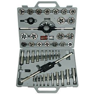 """Drill America 1/4-1"""" Carbon Steel NC and NF Tap and Die Set"""