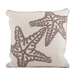 Starfish Design Down Filled Decorative Throw Pillow