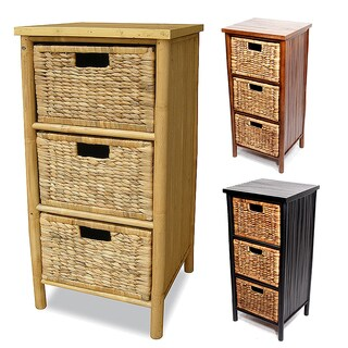 Heather Ann Bamboo 3-drawer Cabinet