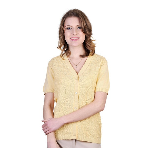 Women's Short-sleeve Button Cardigan