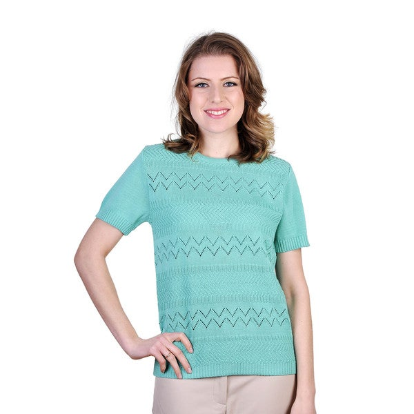 Women's Fine Yarn Short-sleeve Sweater