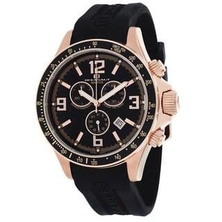 Oceanaut Men's OC3347 Baltica Round Black Rubber Strap Watch