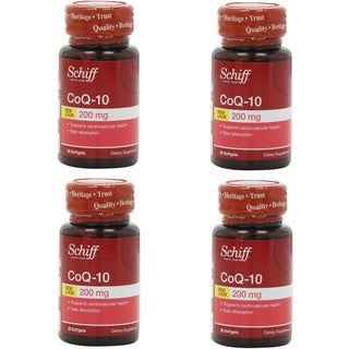 Schiff CoQ10 (30 Count) (Pack of 4)