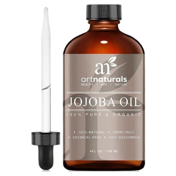 Art Natural 100% Pure & Natural Unrefined Certified Organic Virgin Cold Pressed Jojoba Oil