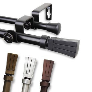 Waver Adjustable Double Curtain Rod