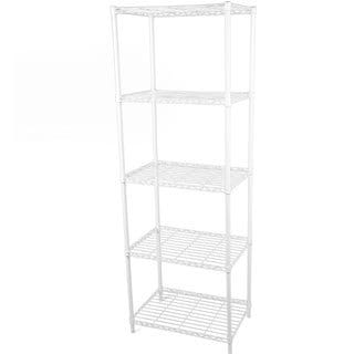 Gold Sparrow 5-tier White Wire Shelving