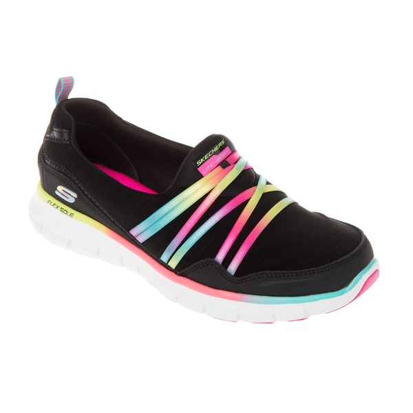 Skechers USA Sport Synergy Scene Stealer Mesh Ribbon Satin Bungee Slip-On with Memory Foam