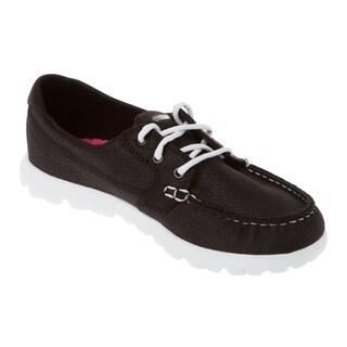 Skechers USA On The GO Cruise Leather Moc Toe Boat Shoe