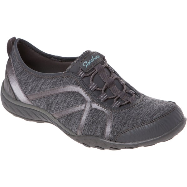 Skechers USA Active Breathe Easy Fortune Heathered Jersey and Satin Gore Bungee Slip On with Memory Foam