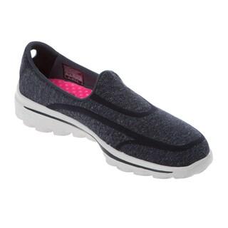 Skechers USA GO Walk 2 Navy/ Grey Super Sock 2 GOGA Mat Technical Walking Shoe