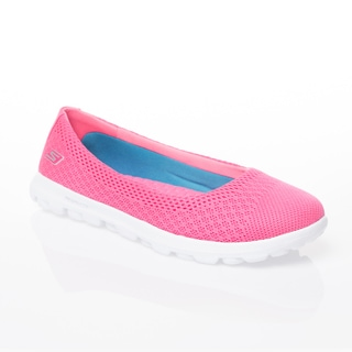 Skechers USA On The GO-Ritz Hot Pink Engineered Mesh Ballet Flat with GOga Mat Technology