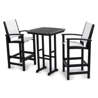 POLYWOOD Coastal Tall 3-piece Outdoor Bar Set