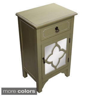 Heather Ann Single Drawer, Single Door Cabinet with Mirror Insert