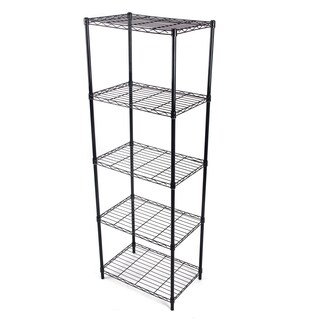 Gold Sparrow 5-tier Black Wire Shelving