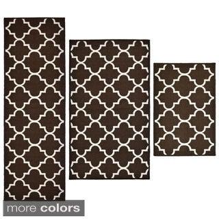 Lattice 3-Piece Rug Set