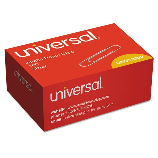 Universal Silver Smooth Paper Clips (20 Packs of 100)