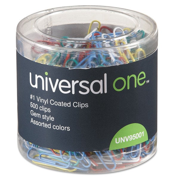 Universal One Assorted Colors Paper Clips (7 Packs of 500)