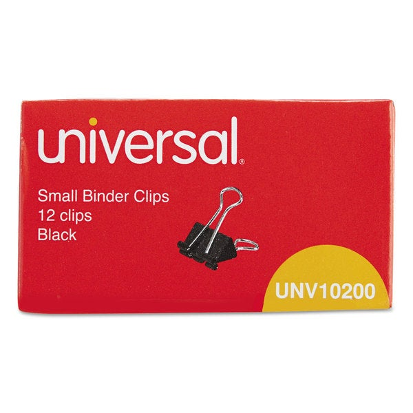 Universal Black/Silver Small Binder Clips (20 Packs of 12)