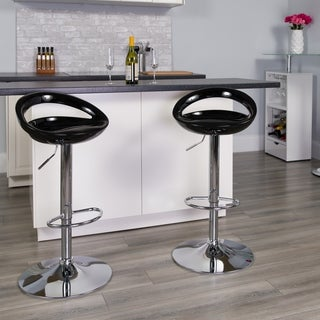 Contemporary Metal Adjustable-height Swivel Bar Stool