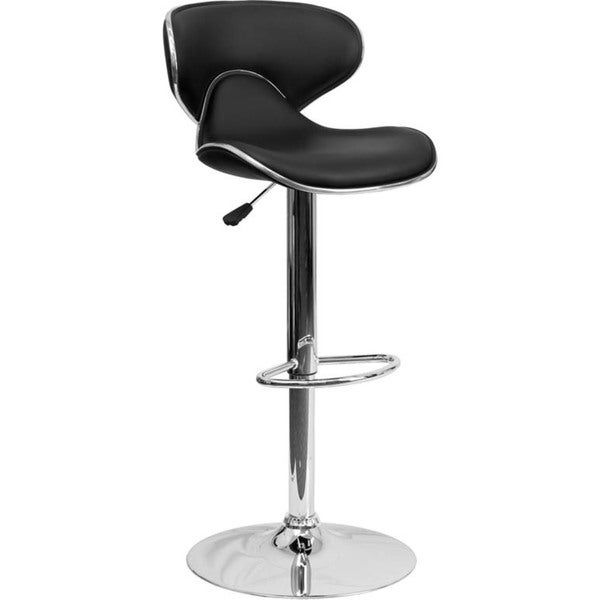round back contemporary swivel bar stool 17227942