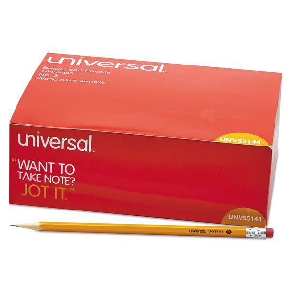 Universal Yellow Barrel Economy Woodcase Pencil (3 Packs of 144)
