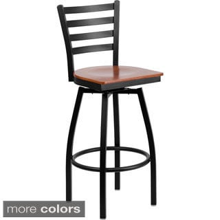 Metal 360-degree Swivel Restaurant Bar Stool