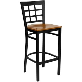 Square-back Metal Restaurant Bar Stool