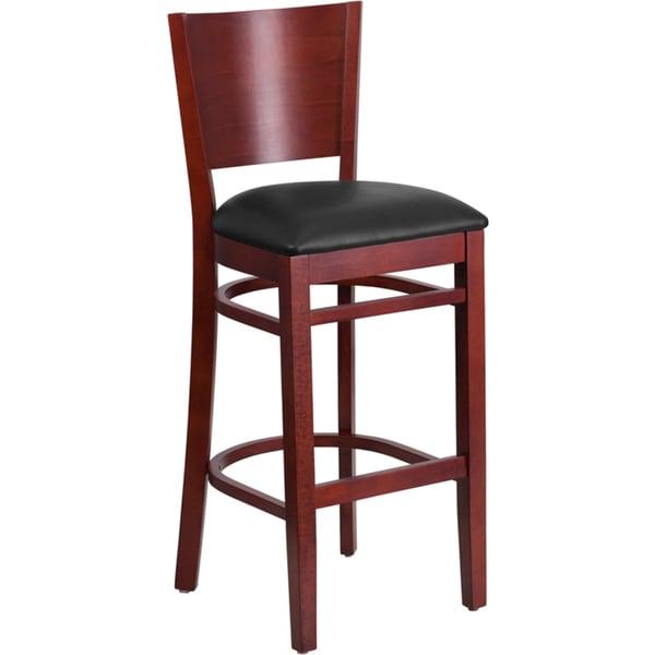 Black Brown Heavy Duty Bar Height Bar Stool 17228035