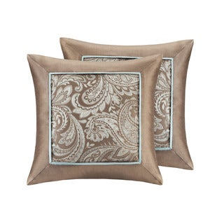 Madison Park Whitman Jacquard Square Throw Pillow (Set of 2)