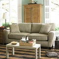 Sofab Angel II Pewter Chenille Sofa with Two Throw Pillows