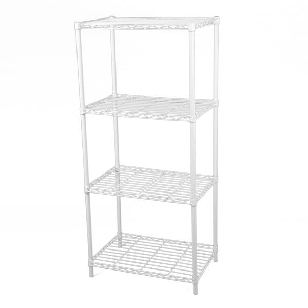 Gold Sparrow 4-tier White Wire Shelving