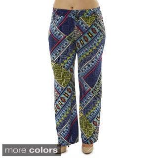 Women's Plus Size Extra Blue Twist Palazzo Pants