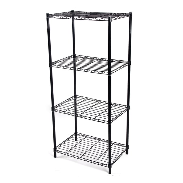 Gold Sparrow 4-tier Black Wire Shelving