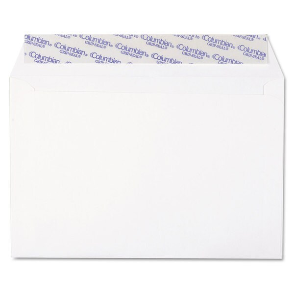 Columbian White Grip-Seal Booklet/Document Envelope