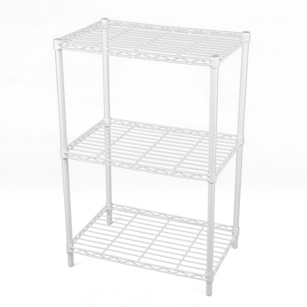 Gold Sparrow 3-tier White Wire Shelving