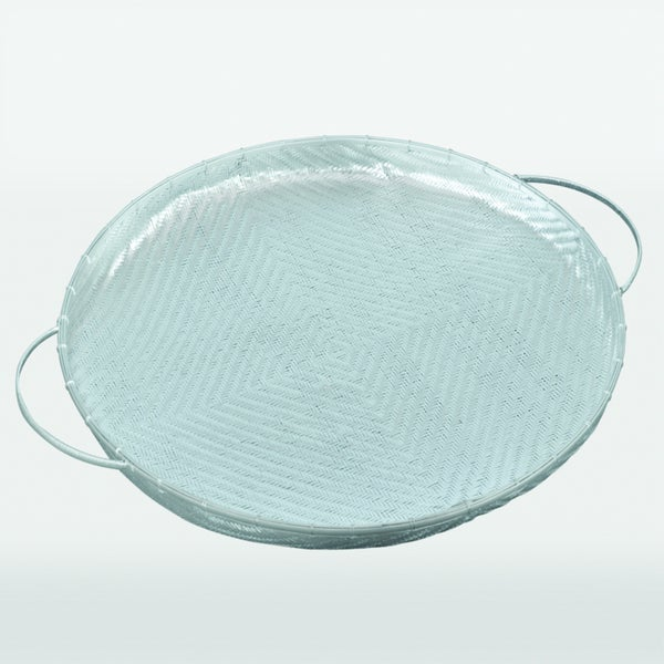 Freesia Aluminum Decorative Tray