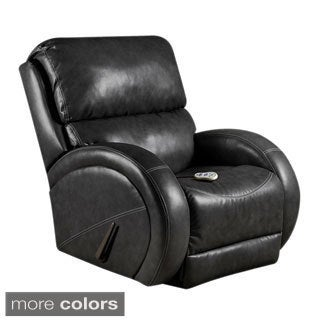 Massaging Leather Recliner with Heat Control