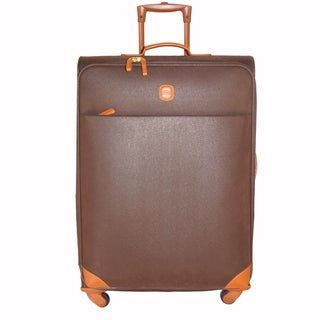 Brics Life 25-inch Brown/Cognac 4-wheel Spinner Upright Suitcase