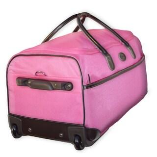 Brics Pronto 28-inch Pink Rolling Duffel Bag