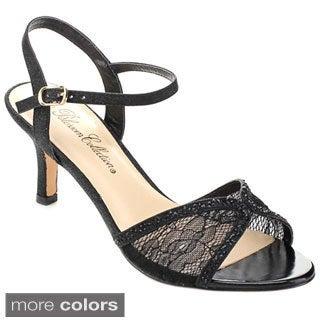 De Blossom Collection Women's 'Vero-36' Lace Ankle Strap Heels