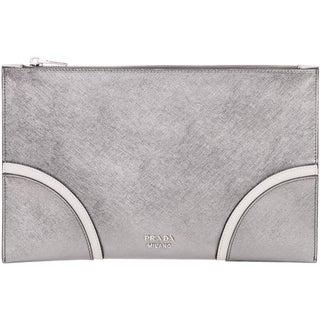 Prada Saffiano Leather Flat Clutch
