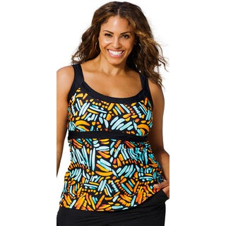 Beach Belle Encinitas Empire Tankini Top