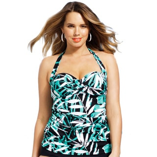 Shore Club Palm Cove Twist Front Bandeau/ Halter Top