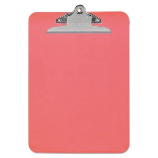 """Universal Red Plastic Clipboard with 1"""" High Capacity Clip (Pack of 9)"""