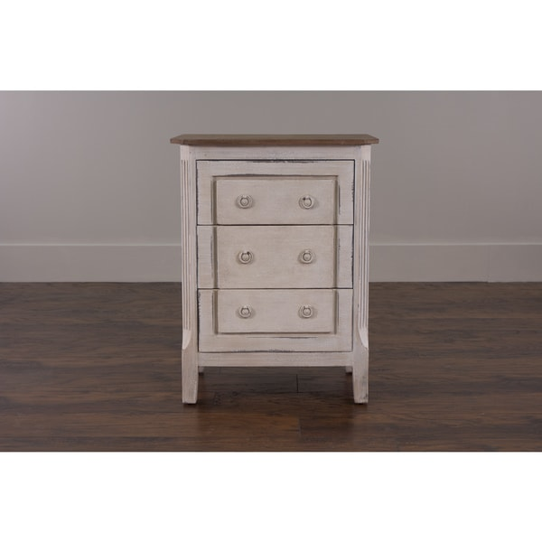 Decorative Gervais Casual White Rectangle Accent Table