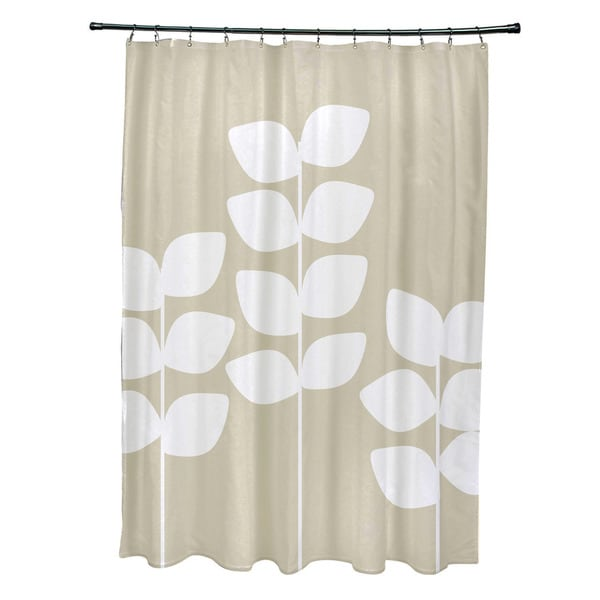 Exclusive Floral Print Leaf Shower Curtain