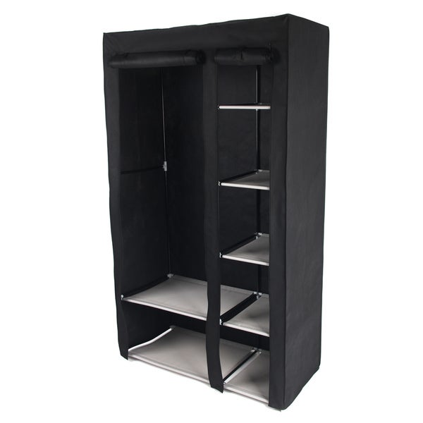 Gold Sparrow Black Portable Storage Wardrobe