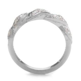 Platinum 3/8ct TDW Diamond Braided Estate Ring (G-H, VS1-VS2) (Size 7)