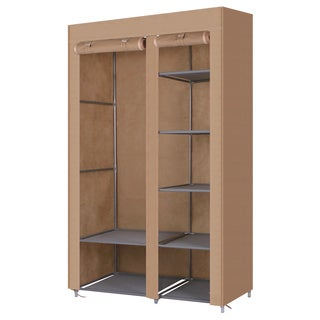 Gold Sparrow Beige Portable Storage Wardrobe